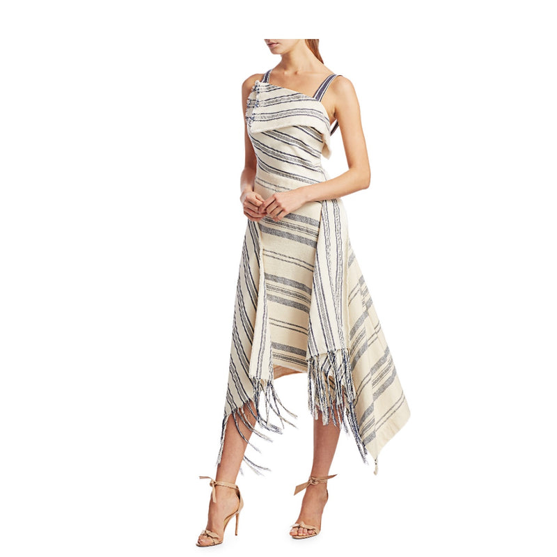 Monse Striped Fringe Dress