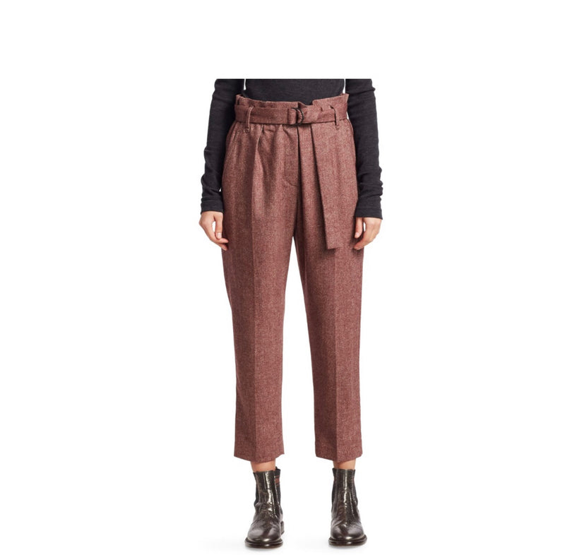 Brunello Cucinelli Flannel Chevron Pants
