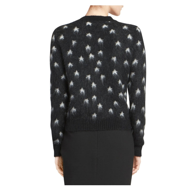 Saint Laurent Star Print Mohair Sweater