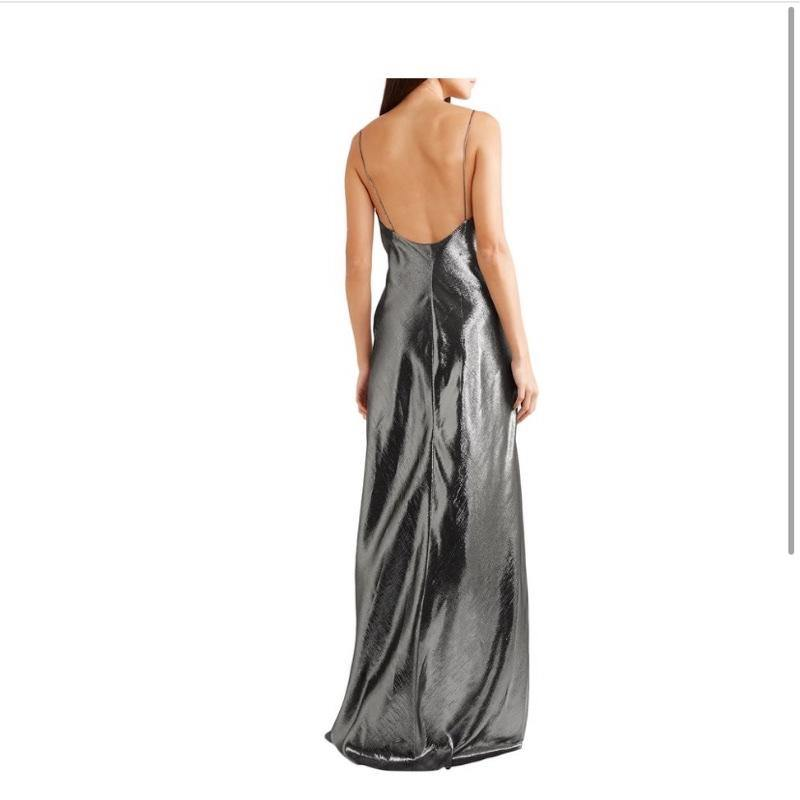 Cushnie et Ochs Open Back Lame Gown