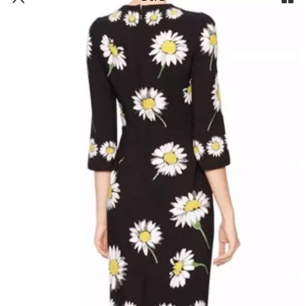 Dolce & Gabbana Daisy Print Silk Midi Cocktail Dress