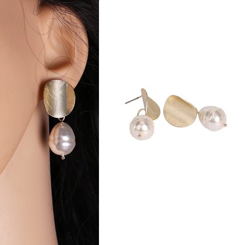Single Pearl Drop Earring