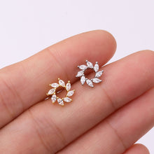 Load image into Gallery viewer, Variation Cubic Zirconia Earrings