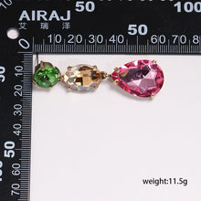 Load image into Gallery viewer, Mixed color Crystal Drop Earrings