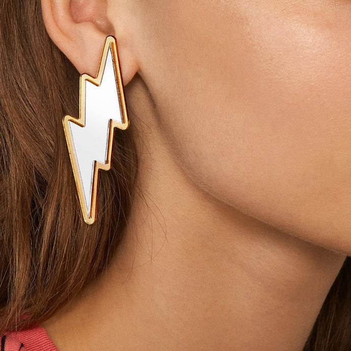 Big Lightning bolt Earrings