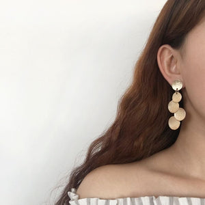 Geometric Long Drop Earrings