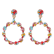 Load image into Gallery viewer, Multicolored Crystal Drop Earrings