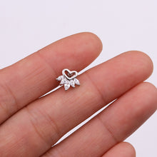 Load image into Gallery viewer, Silver Stud Crown Earring