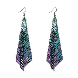 Holographic Chainmail Earring