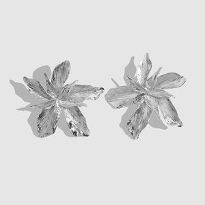 Textured Flower Earrings