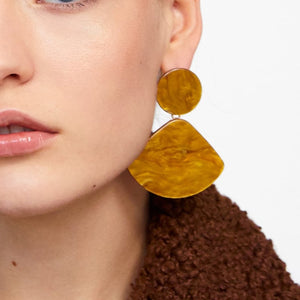 Earthy Resin Earrings