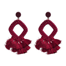 Load image into Gallery viewer, Woven Tassel Earrings