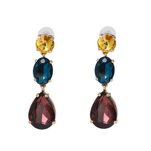 Mixed color Crystal Drop Earrings