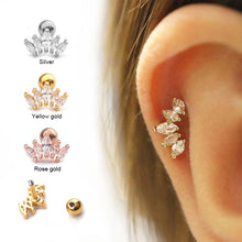 Load image into Gallery viewer, Crown Crystal Earring