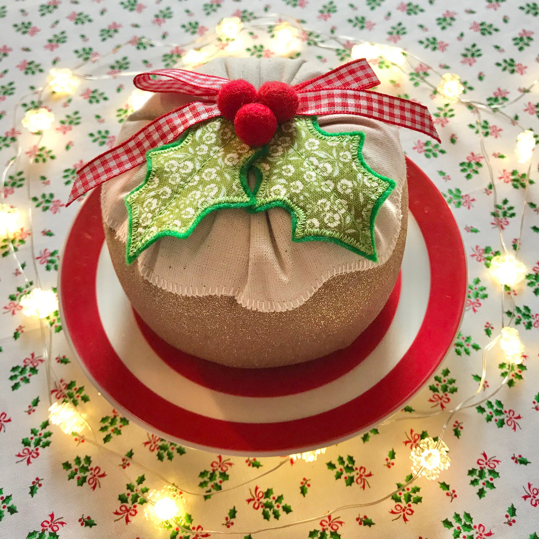 Fabric Christmas Pudding