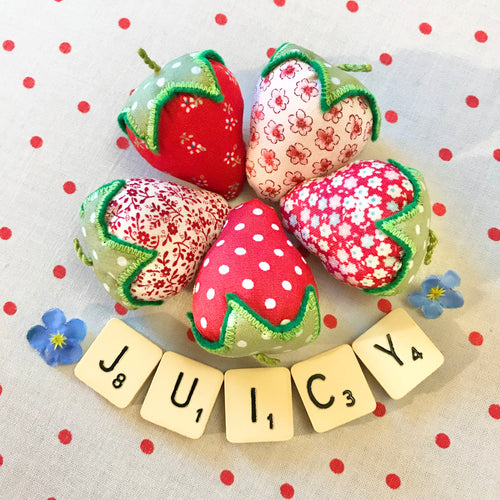 Pretty Fabric Strawberries
