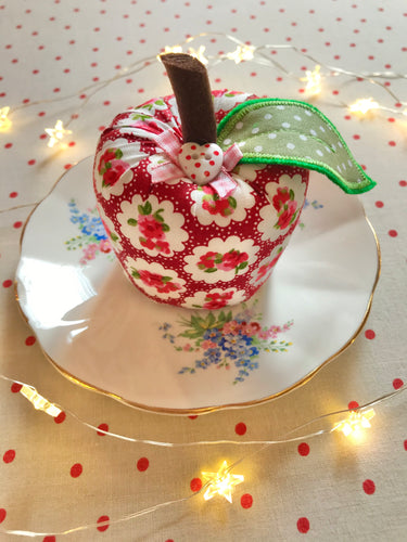 Pretty Fabric Apple