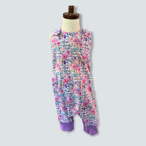 1-3YR Floral and Purple Romper