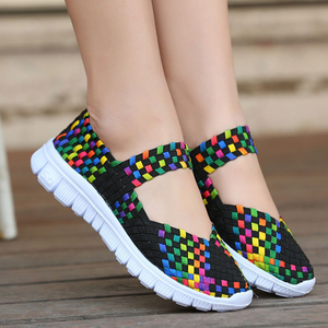2020 fashion ladies casual running shoes ladies breathable mesh fabric soft sneakers