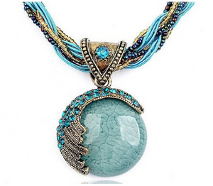Bohemian pendant ethnic style gold necklace+50 %OFF