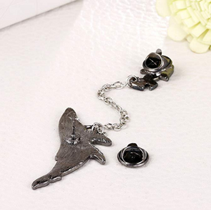 Cartoon astronaut space whale brooch accessories【50 %OFF】