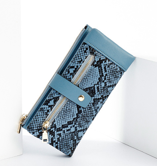 Fashion snake pattern women's wallet