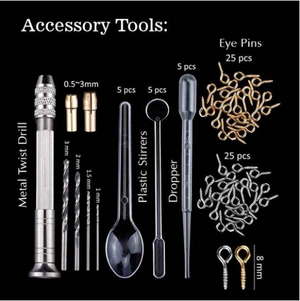 Crystal drip glue tool set