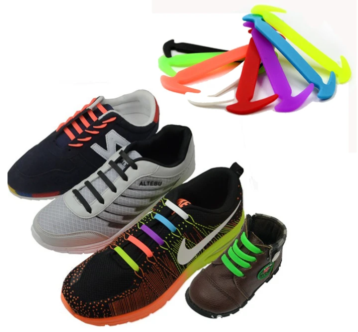 Silicone wild elastic fashion shoe laces [50% OFF buy four free shipping]