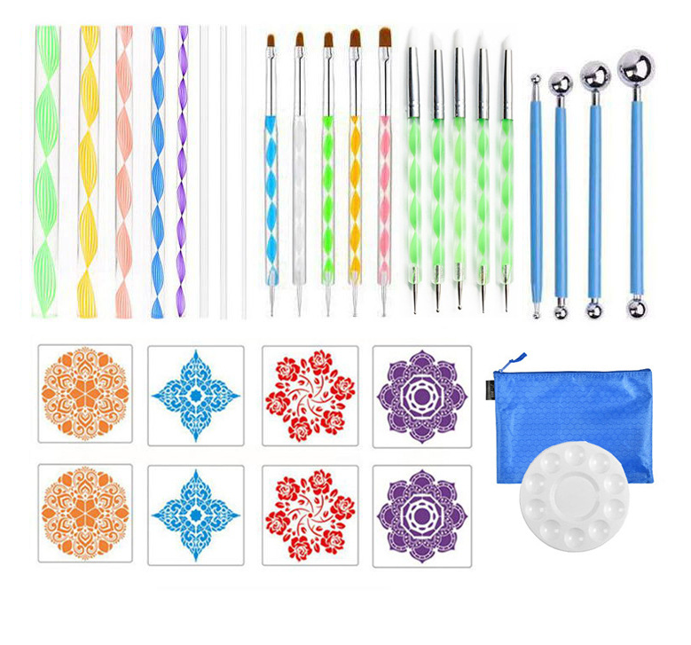 Auxiliary painting template 32-piece tool set