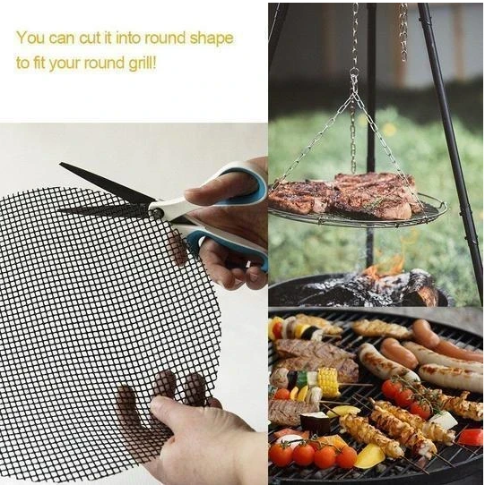 Non-stick reusable hot selling barbecue mat net