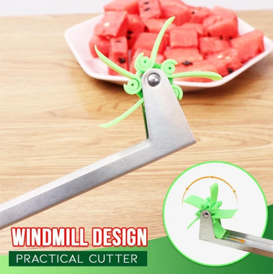 Windmill cut watermelon artifact