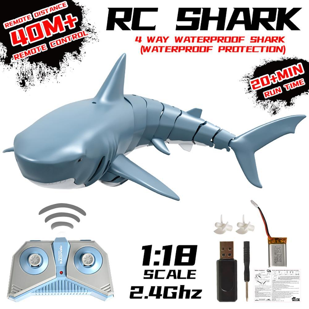 Realistic remote-controlled sharks