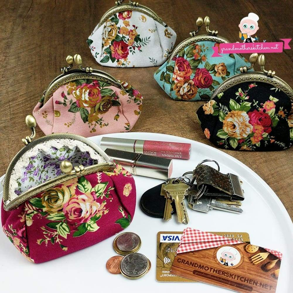 Grandmothers Vintage Style Coin Purse - FREE PURSE PROMO