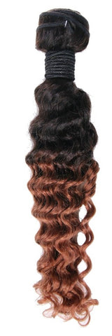 Brazilian Deep Wave Copper Brown Ombre - Special Order