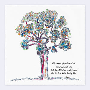 "AURELIA | Giclée Print Print TREES HAVE FEELINGS Deckled Edge 8""x8"""