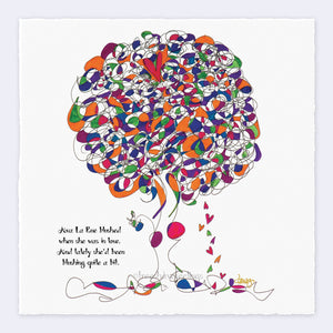 "AVA LA RUE | Giclée Print Print TREES HAVE FEELINGS Deckled Edge 8""x8"""