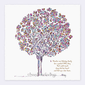 "BLANCHE | Giclée Print Print TREES HAVE FEELINGS Deckled Edge 8""x8"""