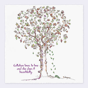 "CALLAHAN | Giclée Print Print TREES HAVE FEELINGS Deckled Edge 8""x8"""