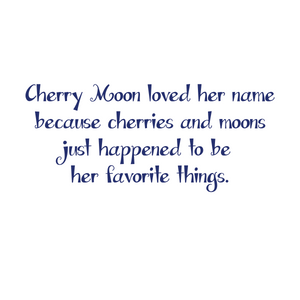 CHERRY MOON | Story on Back | Ladies' Cap Sleeve TREE-Shirt PHYSICAL TREES HAVE FEELINGS