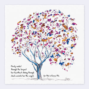 "EMMA BLU | Giclée Print Print TREES HAVE FEELINGS Deckled Edge 8""x8"""