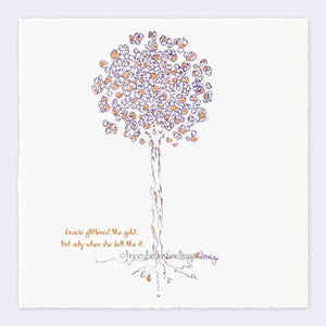 "GRACIE | Giclée Print Print TREES HAVE FEELINGS Deckled Edge 8""x8"""