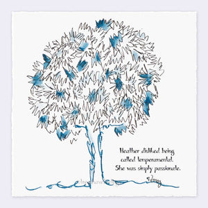 "HEATHER | Giclée Print Print TREES HAVE FEELINGS Deckled Edge 8""x8"""