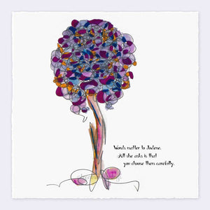 "JODENE | Giclée Print Print TREES HAVE FEELINGS Deckled Edge 8""x8"""