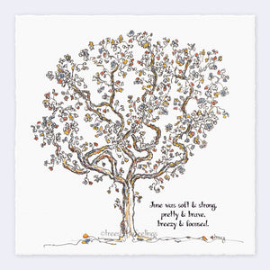 "JUNE | Giclée Print Print TREES HAVE FEELINGS Deckled Edge 8""x8"""
