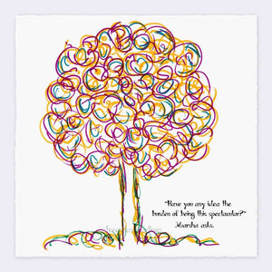 "MARCIA | Giclée Print Print TREES HAVE FEELINGS Deckled Edge 8""x8"""
