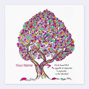 "MISS PEARL | *PERSONALIZED* Giclée Print Print TREES HAVE FEELINGS Deckled Edge 8""x8"""