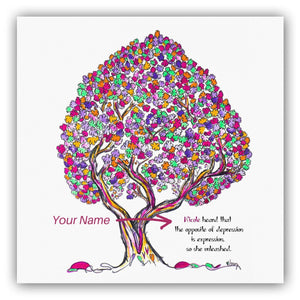"MISS PEARL | *PERSONALIZED* Giclée Print Print TREES HAVE FEELINGS Straight Cut 8""x8"""
