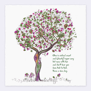 "OLIVE | Giclée Print Print TREES HAVE FEELINGS Deckled Edge 8""x8"""