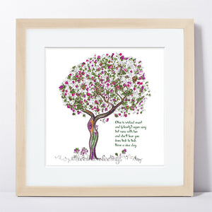 "OLIVE | Framed Print Framed TREES HAVE FEELINGS 8""x8"" print + 1.5"" mat Natural"