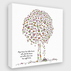 "PIPER | Canvas Canvas TREES HAVE FEELINGS 8""x8"""